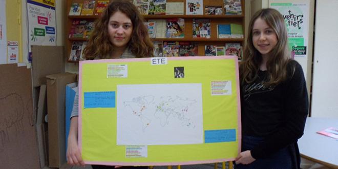 les villes et pays organisateurs des JO avec Hélène et Mélanie